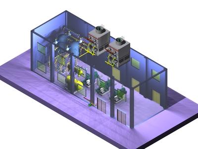 贛州冷庫設計制冷機房燈光2