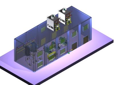 贛州冷庫設計制冷機房1